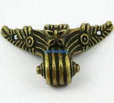 4 Antique Brass Decorative Feet Jewelry Box Feet Case Leg 57x27mm with Screws