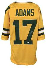 Devante Adams Autographed Pro Style Yellow Color Rush Jersey JSA Authenticated