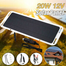 Waterproof 20W 12V Portable SOLAR TRICKLE BATTERY CHARGER Emergency Solar Panel