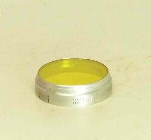 Yellow slip-on Filter Y-2x JS-18 32mm for Smena-1/2/3/4 Lubitel lomo camera LZOS