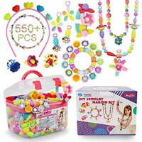 Pop Beads - 550+Pcs DIY Jewelry Making Kit for Toddlers 3, 4, 5, 6, 7 ,8 Year