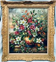 Original Still Life Flowers Oil Painting by Albert WILLIAMS 1922 - 2010 (signed)