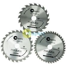 3 Pcs 184mm TCT Circular Saw Blades 20 24 & 40 Teeth with Adapter Rings 185mm