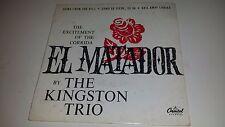 "THE KINGSTON TRIO El Matador CAPITOL RARE PICTURE SLEEVE FRANCE IMPORT EP 7"""