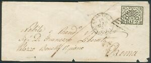 Kirchenstaat old letter (3a) Civita(litt Ort) to Roma -RARE