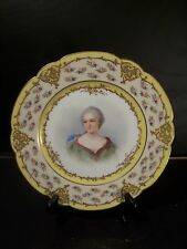 Antique Sevres Porcelain Hand Painted Plate Signed Brun