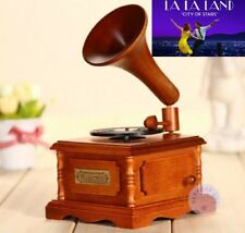 WOODEN PHONOGRAPH MUSIC BOX ♫  City of Stars - La La Land   ♫