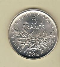 FDC toute neuve car sous scellèe 5 FRANCS SEMEUSE 1986 cote 150 euro prix  BRADE