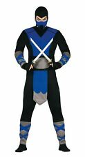 Mens Blue Ninja Japanese Samurai Warrior Fancy Dress Costume Outfit