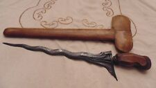Kris Balinese keris w 9 wave blade, handle is Bali Scabbard is Gayaman in Java
