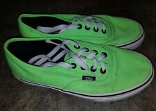 VANS Mens and woman white  Outsole Neon Green Canvas Skate Volt shoes