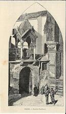 Stampa antica VERONA Arche Scaligere Veneto 1892 Old antique print
