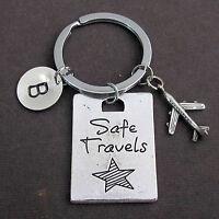 Safe Travels Key Chain,Pilot Gift,Airplane Keychain,Traveling Keychain,Aviation