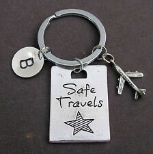 Safe Travels Key Chain,Pilot Gift,Airplane Keychain,Traveling Keychain,Aviation