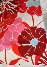 Pottery Barn Teen Kensington Bold Floral Shower Curtain Red Pink Orange White