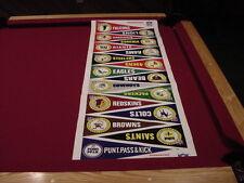 VERY RARE 1967 Punt, Pass & Kick NFL 16 Pennant Uncut Sheet, VERY COOL!!