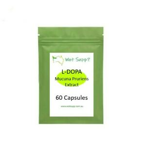 Mucuna Pruriens Extract 60 x 300mg Capsules  FREE POSTAGE Oz Store LDOPA 98%