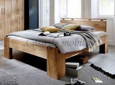 a2f7cdeef8 Massivholz Doppelbett 180x220cm Überlänge Wildeiche geölt Bettgestell Holz  bett