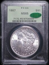 1887 Morgan Dollar Silver $1 PCGS MS65 CAC
