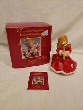 Goebel Baroque Angel Playing Flute, 1993, w/ Original Box, Red Dress