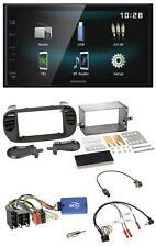 Kenwood Lenkrad Bluetooth USB MP3 2DIN Autoradio für Fiat 500 08-15 soft touch