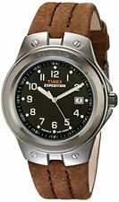 New Timex Men's T49631 Expedition Metal Tech Brown Leather Strap Watch