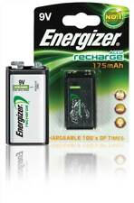 Energizer NiMH 9V Rechargeable Battery x1 175mAh