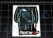 Friday the 13th movie logo decal sticker Jason Vorhees Crystal Lake 80s horror