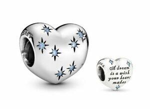 NEW GENUINE PANDORA DISNEY CINDERELLA'S DREAM HEART CHARM S925 ALE 791593CFL UK