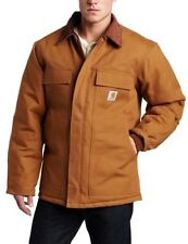 NEW Carhartt Mens Arctic Quilt Lined Duck Traditional Coat Brown X Large