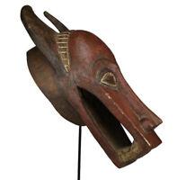 Afrika Senufo Krokodil Maske Elfenbeinküste Stammeskunst Tribal Art