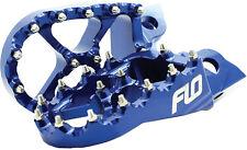 FLO MOTORSPORTS PRO SERIES FOOT PEGS (BLUE) Fits: Yamaha WR426F,YZ426F,YZ80,WR40