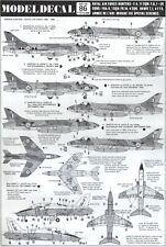NEW 1:72 Modeldecal 86 Hawker Hunter - BAe Hawk T.1 - Dassault Mirage III