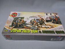 AH942 AIRFIX WWII WW2 25PDR FIELD GUN & MORRIS QUAD A01305 1/76 OO DIORAMA