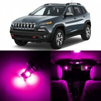 14 x Ultra PINK Interior LED Lights Package For 2014 - 2018 Jeep Cherokee  +TOOL