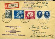 421318) DDR ^Paar Nr. 270 u.a. a. NN-Einschreiben Schwerin 1951