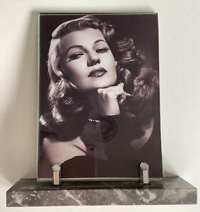 Art Deco marble and chrome photo frame, stylish original