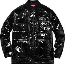 Supreme Quilted Patent Vinyl Work Jacket Black SS18 Size Medium