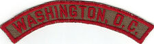 BOY SCOUT WASHINGTON, D.C TRS TKRS KRS TAN & RED KHAKI & RED COUNCIL HALF STRIP