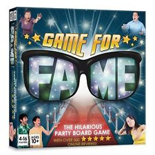 Game For Fame: Hilarious party Board Game for up to 16 players! Family Friends