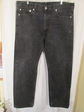 LEVI'S Classic 505 Regular Fit Straight Leg BLACK DENIM JEANS sz 38 x 32