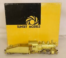 SUNSET MODELS PRESTIGE SERIES PA RR 0-4-0 A-5 BRASS SWITCHER LOCO & TENDER-EX++!