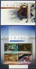 St. Vincent 2012 Krabben Crabs Meerestiere Marine Life 7124-28 + Bl.732 MNH