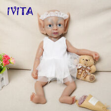 39 cm Full Body Waterproof Silicone Reborn Doll Multiracial Baby Fairy Girl OOAK