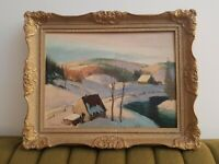 Original  Sydney Berne Oil painting! Signed Vintage Collectable. Canadian Rare