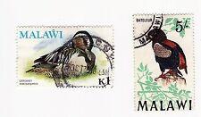 Malawi 1968 defins 5/- u and 1975 defin 1k used.