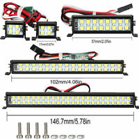 For SCX10 D90 TRX4 1/10 RC Climbing Car Spotlight Dual-Row Roof Lamp Light Kit