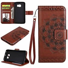 Flip Leather Wallet Stand Flower Case Cover For Samsung Galaxy S5 S6 S7 Edge S8+