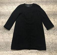 Max Mara Designed For Easy Living Dress Coat Women's Size 8 Black Mid Length