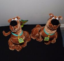 2 Lot Scooby Doo Six Flags Plush Stuffed Animal Dog 8 inches